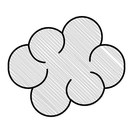 Dark cloud isolated icon vector illustration design Illustration