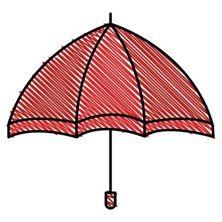 傘開き隔離アイコンベクトルイラストデザイン