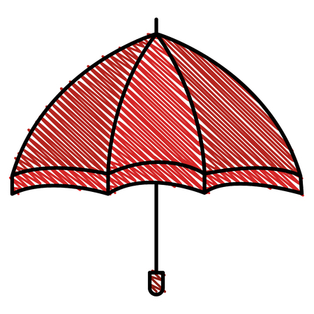 Vector de illustratieontwerp van het paraplu open geïsoleerd pictogram Stock Illustratie