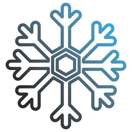 snowflake weather isolated icon vector illustration design Ilustrace