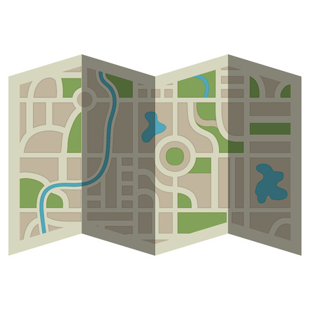 paper map guide icon vector illustration design