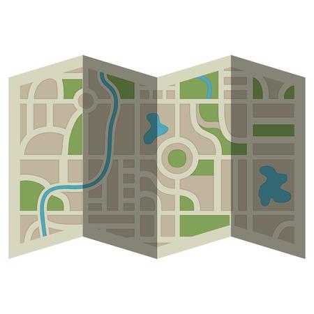 papieren kaart gids pictogram vector illustratie ontwerp