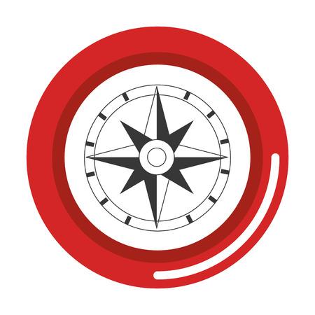 コンパスガイド絶縁アイコンベクトルイラストデザイン