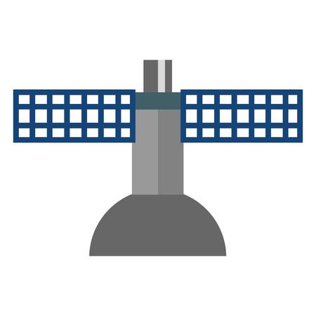 Ontwerp van de aardse satellietantenne pictogram vectorillustratie Stock Illustratie