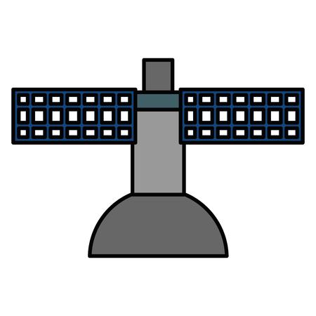 terrestrial satellite antenna icon vector illustration design