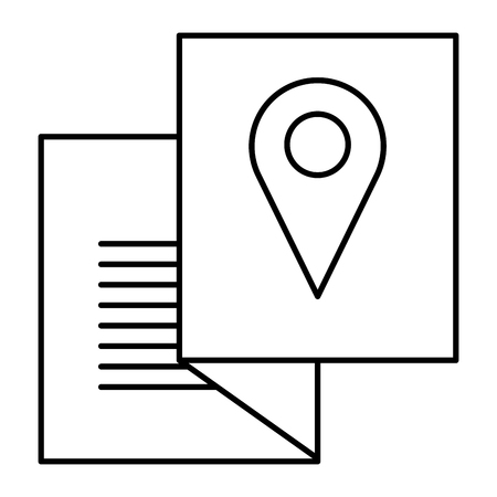 paper with pin location vector illustration design Illustration