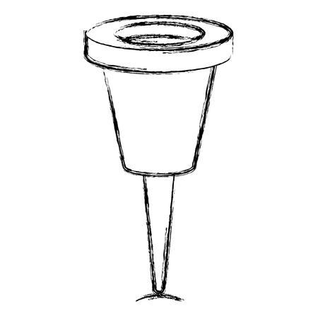 タックマーカー分離アイコンベクトルイラストデザイン
