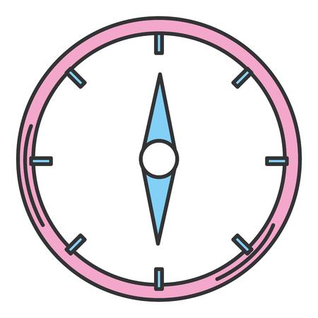 나침반 가이드 격리 된 아이콘 벡터 일러스트 레이 션 디자인 스톡 콘텐츠 - 94580476
