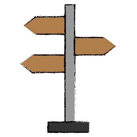 Houten pijlen gids label vector illustratie ontwerp Stockfoto - 94580682