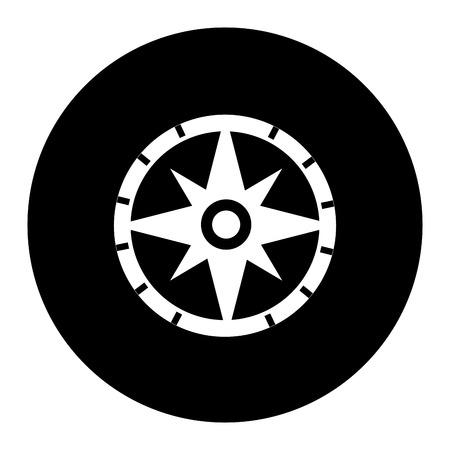コンパスガイド分離アイコンベクトルイラストデザイン  イラスト・ベクター素材
