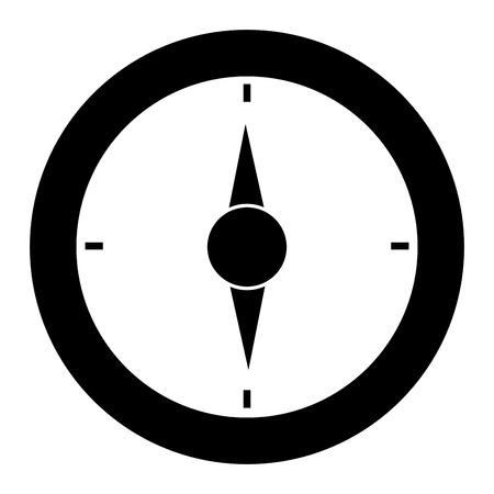 나침반 가이드 격리 아이콘 벡터 일러스트 디자인