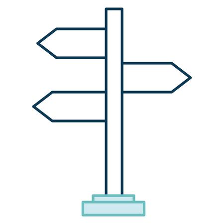 Wooden arrows guide label vector illustration design