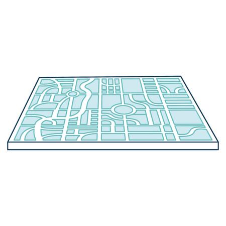 paper map guide icon vector illustration design