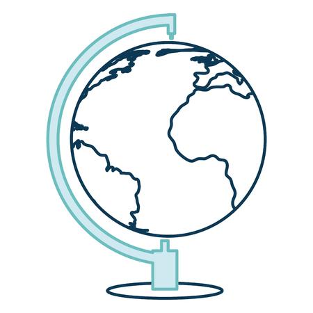 earth planet school icon vector illustration design Ilustração