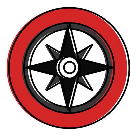 나침반 가이드 격리 아이콘 벡터 일러스트 디자인 스톡 콘텐츠 - 94581208