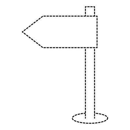 wooden arrow guide label vector illustration design Illustration