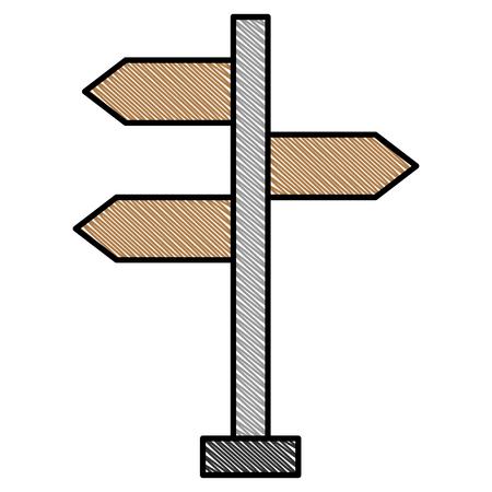 wooden arrows guide label vector illustration design Illustration