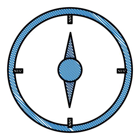 나침반 가이드 격리 된 아이콘 벡터 일러스트 레이 션 디자인