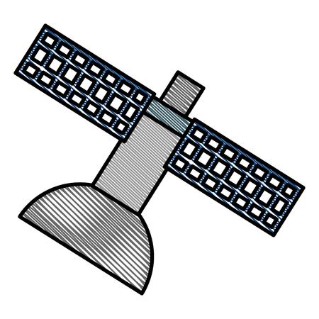 지상 위성 안테나 아이콘 벡터 일러스트 디자인