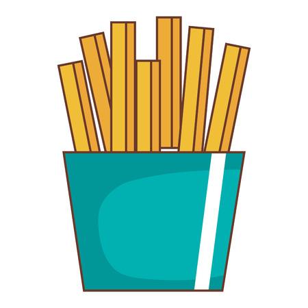 Progettazione dell'illustrazione di vettore dell'icona isolata patate fritte Archivio Fotografico - 94589644