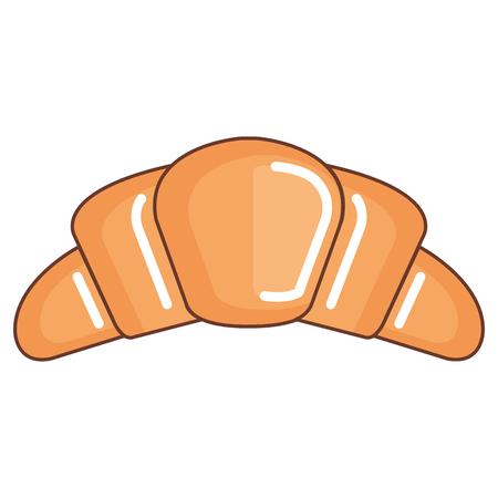 맛있는 크루아상 빵 아이콘 벡터 일러스트 레이션 디자인