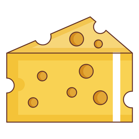 Cheese piece isolated icon vector illustration design Фото со стока - 94589646