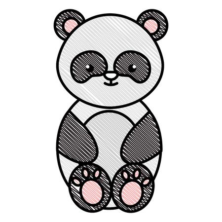 Mignon et tendre ours panda personnage vector illustration design Banque d'images - 94743902