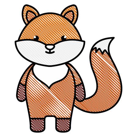 schattig en teder vos karakter vector illustratie ontwerp Stock Illustratie