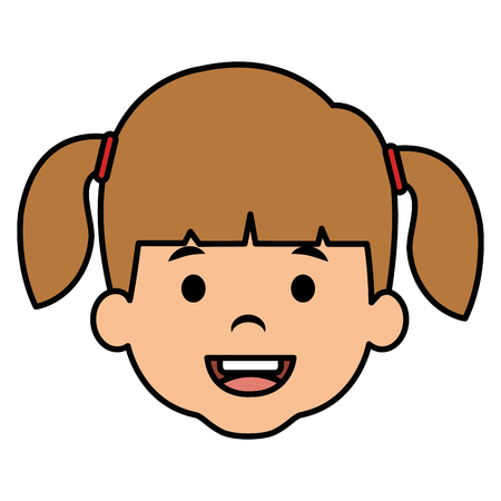 cute and little girl head vector illustration design Ilustrace