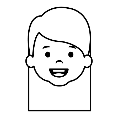 cute and little girl head vector illustration design Illusztráció