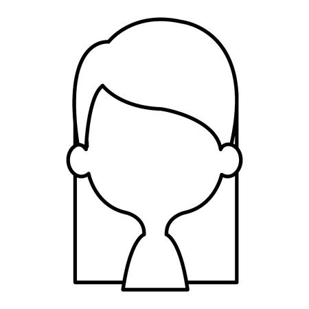 귀 엽 고 작은 소녀 shirtless 벡터 일러스트 레이 션 디자인.