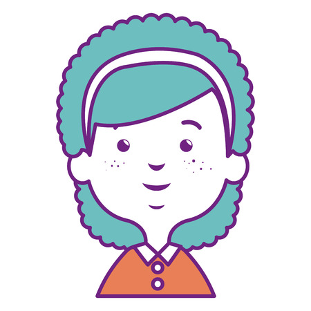 Cute little girl vector illustration design