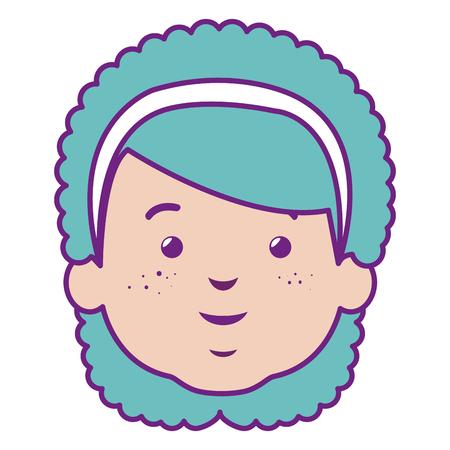 cute and little girl head vector illustration design 向量圖像