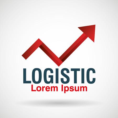 logistic emblem business icon vector illustration design