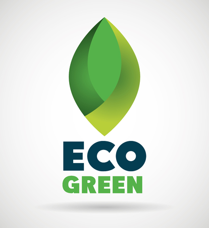 eco emblem isolated icon vector illustration design Ilustração