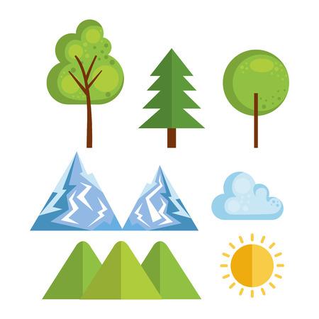 seasonal weather set icons vector illustration design Illustration