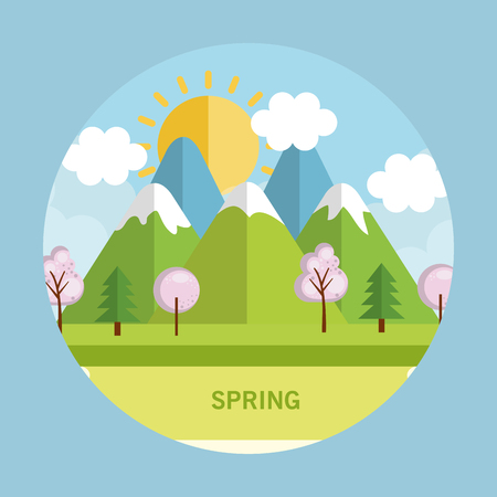 seasonal weather landscape icon vector illustration design