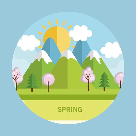 seasonal weather landscape icon vector illustration design