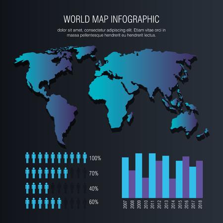 世界の惑星インフォグラフィックアイコンベクトルイラストデザイン 写真素材 - 94620042