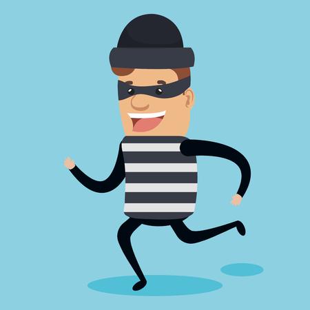 Theft identity avatar character vector illustration design
