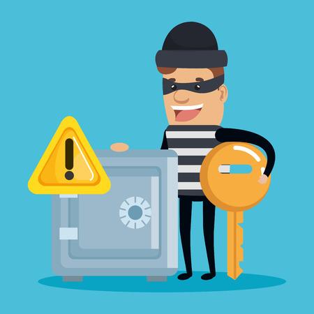 Theft identity avatar character vector illustration design Stock Vector - 94620326