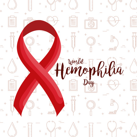 world hemophilia day icons vector illustration design Illustration