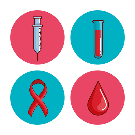 world hemophilia day set icons vector illustration design