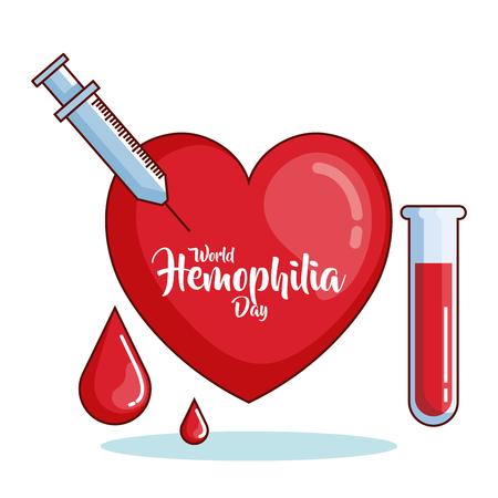 world hemophilia day icons vector illustration design