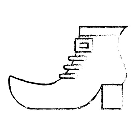 shoe boot accessory of leprechaun vector illustration sketch image design Illustration