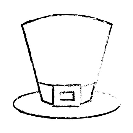 top hat accessory fashion irish vector illustration sketch image design Illustration