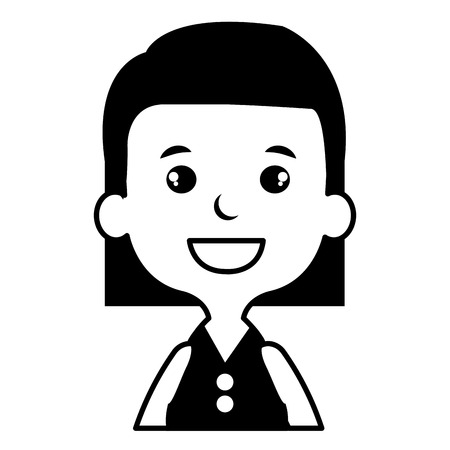 Cute and little girl vector illustration design Illusztráció