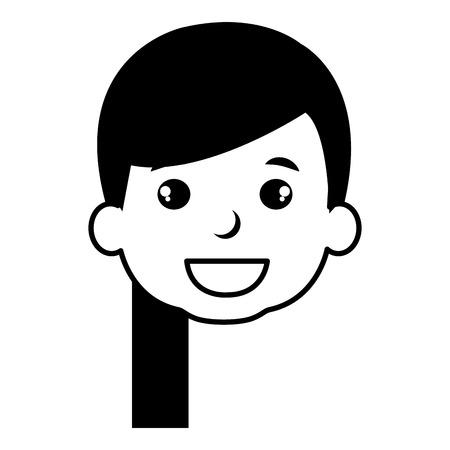 귀 엽 고 어린 소녀 머리입니다. 벡터 일러스트 레이 션 디자인. 일러스트