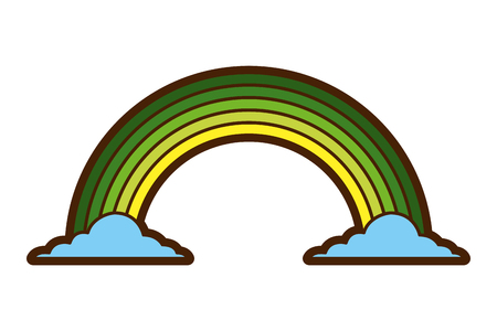 green rainbow color cloud magic fantasy vector illustration Illusztráció