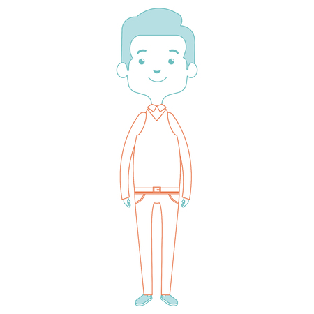 cute father avatar character vector illustration design